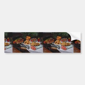 Steaks, burgers, chicken bumper stickers