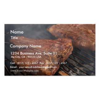 Steaks Grilling Barbecue Grills Meat Business Card Template