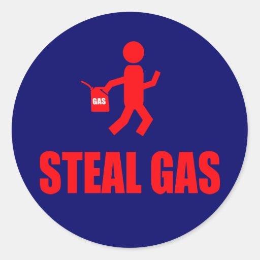 Steal Gas Round Sticker