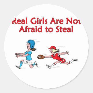 Steal Round Stickers