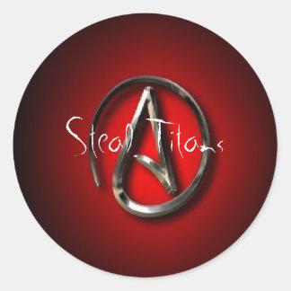 Steal Titans Round Sticker