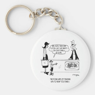 Stealing Hotel Towels Basic Round Button Key Ring