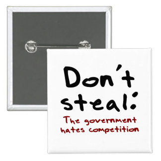 Stealing is wrong 15 cm square badge
