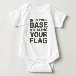 Stealing Your Flag - FPS, Game, Gamer, Video Games Baby Bodysuit
