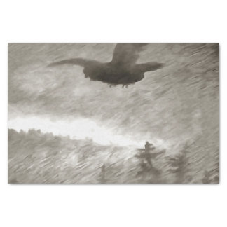 """Stealth And Surprise Of The Night Owl 10"""" X 15"""" Tissue Paper"""