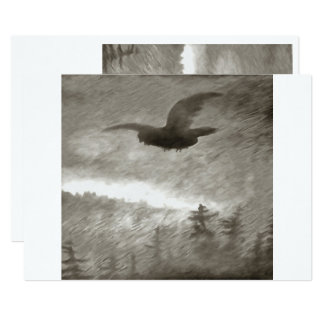 Stealth And Surprise Of The Night Owl 13 Cm X 18 Cm Invitation Card