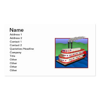 Steam Boat 2 Pack Of Standard Business Cards