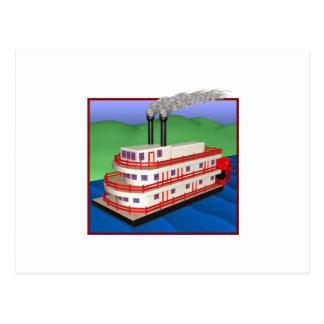 Steam Boat 2 Postcard