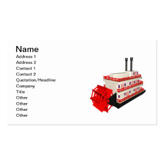 Steam Boat Pack Of Standard Business Cards