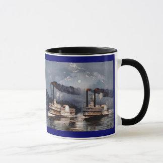 Steam Boat Racing on Mississippi River Mug