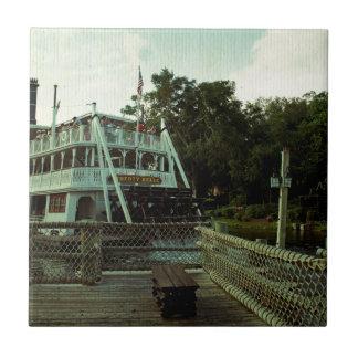 Steam Boat Small Square Tile