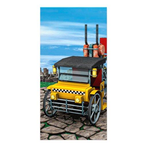 Steam Cab-Taxi Photo Card Template