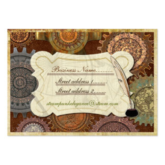 Steam Elegance ANTIQUE COSTUME RE-INACT Large Business Cards (Pack Of 100)