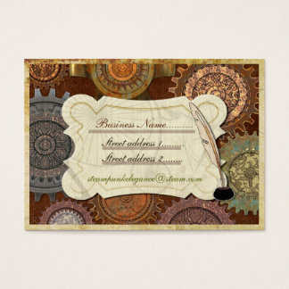 Steam Elegance ANTIQUE COSTUME RE-INACT Business Card