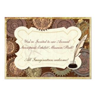 Steam Elegance Steampunk BALL CONVENTION EXHIBIT 13 Cm X 18 Cm Invitation Card