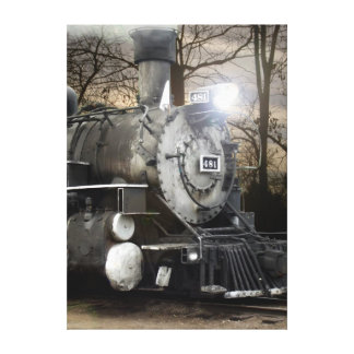Steam Engine 481 Wrapped Canvas Canvas Prints