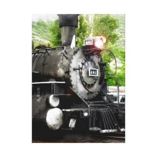 Steam Engine 481 Wrapped Canvas Canvas Print