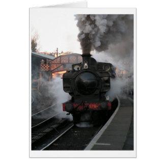Steam Engine at Bridgnorth Greetings Card