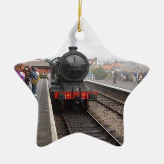 Steam Engine at Sheringham Christmas Ornament