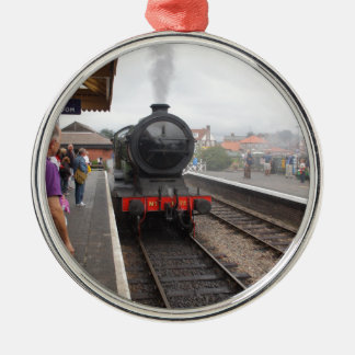 Steam Engine at Sheringham Christmas Ornament