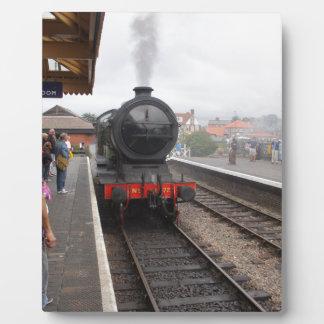 Steam Engine at Sheringham Plaque