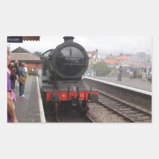 Steam Engine at Sheringham Rectangular Sticker