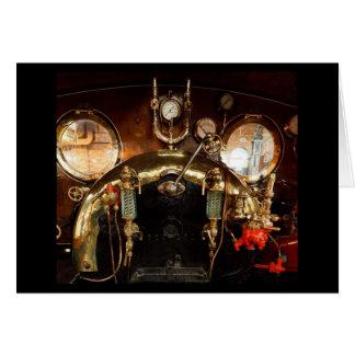 Steam Engine Cab Greeting Card