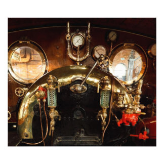 Steam Engine Cab Photo
