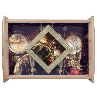Steam Engine Cab Serving Tray