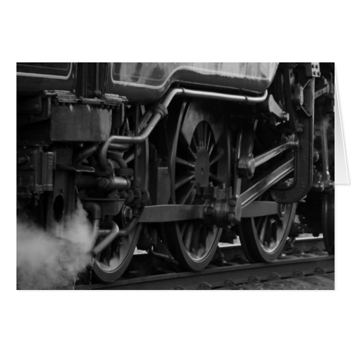 Steam Engine Locomotive Train Gifts Greeting Card