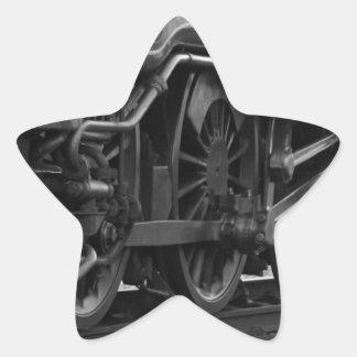 Steam Engine Locomotive Train Gifts Star Sticker