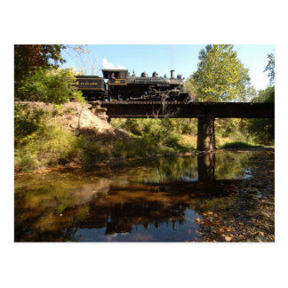 Steam Engine on Trestle Postcard