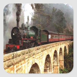 Steam Engine on Trestle Stickers