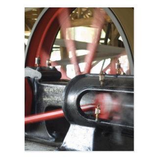 Steam Engine Piston Postcard