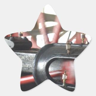 Steam Engine Piston Star Sticker