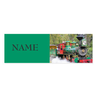 STEAM ENGINE PROFILE CARD PACK OF SKINNY BUSINESS CARDS