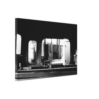 Steam Engine Repair Le Mastrou BlackWhite Canvas Canvas Print