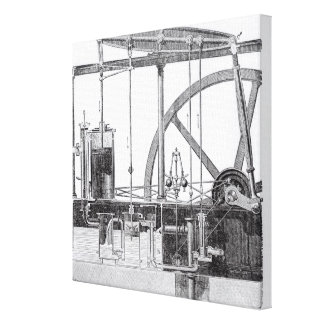 Steam Engine Stretched Canvas Print