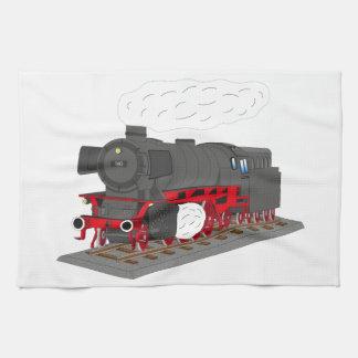 Steam engine tea towel