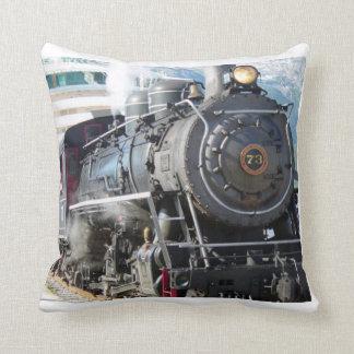Steam Engine throw pillow