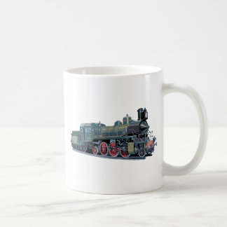 Steam Engine Train Basic White Mug
