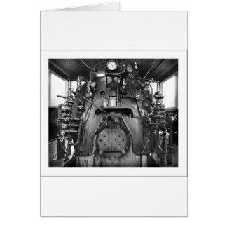 Steam Engine Train Cab Greeting Card