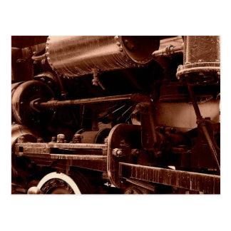 Steam Engine Train Image Postcard