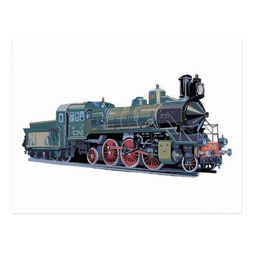 Steam Engine Train Post Cards