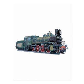 Steam Engine Train Postcard