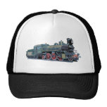 Steam Engine Train Trucker Hat