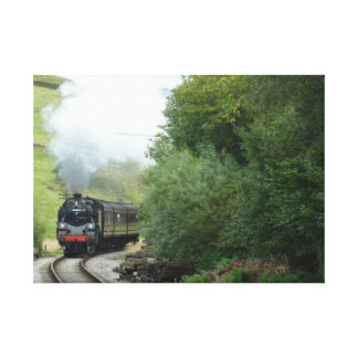 Steam Engine Train Wrapped Canvas Canvas Prints