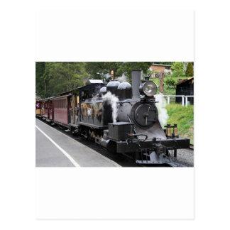 Steam engine Victoria Australia Postcard