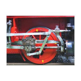 Steam engine wheel canvas print