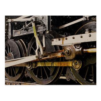Steam Engine Wheels Postcard